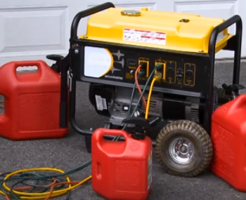 Use extension Cord to connect to a Portable Generator