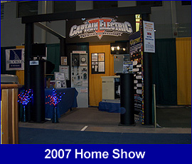 Captain Electric at the Home Show