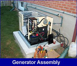 Standby Generator interior view