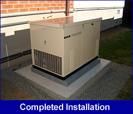 Standby generator completed installation