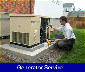 Standby Generator being serviced