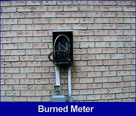 Safety hazard: burned meter